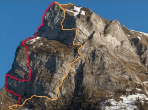 mountain via ferrata map