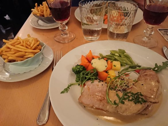 rump of veal with vegetables