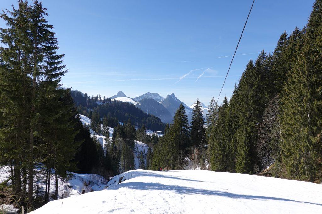 panorama of moleson, dent de broc, dent du chamois