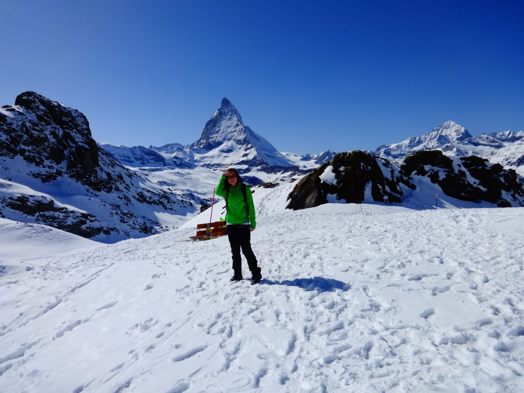 woman hiking in Zermatt