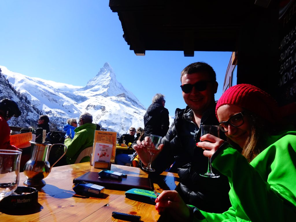 people drinking in zermatt
