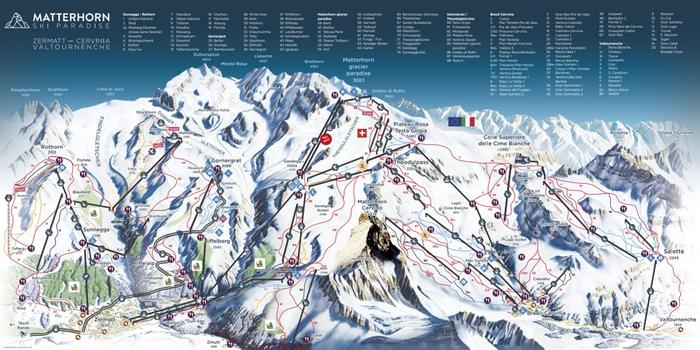 map of slopes in zermatt