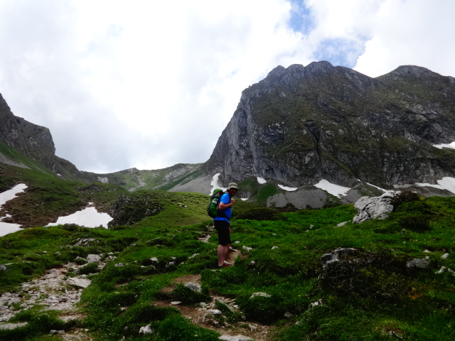 men hiking in the mountains