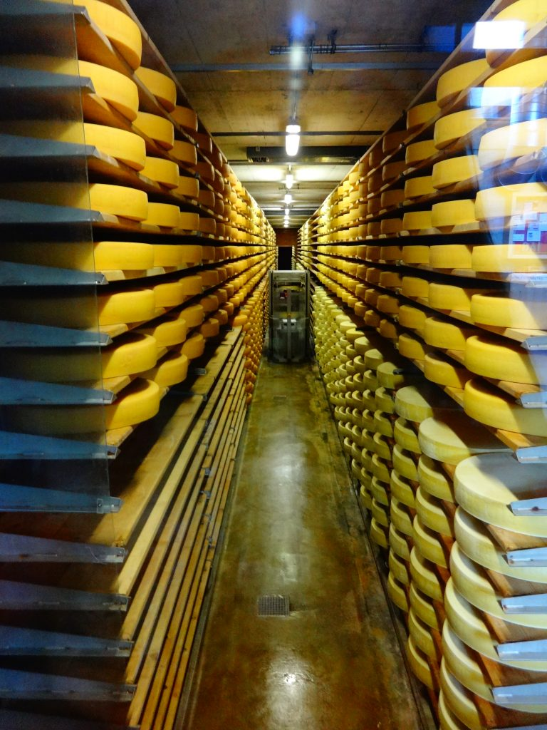 cheese factory in Pringy